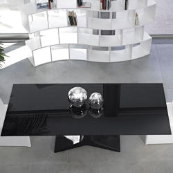 Tofias Furniture - Reale Modern Black And White Dining Set