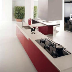 Estia Kitchen Contemporary Red And White Kitchen