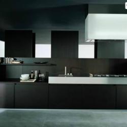 Estia Kitchen Modern Hi Tech Black Kitchen