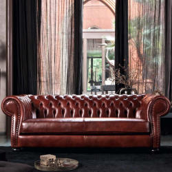 Marnico - Byron Leather Classic Sofa