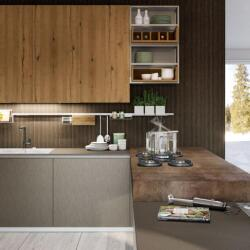 Argyrou Kitchens Design Collection Oltre Oak And Metal Effect