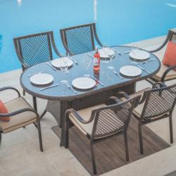 Sotos Outdoor - Linda Oval Dining Table